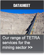 TETRA communications for the mining industry. TETRA services from Datasat Communications
