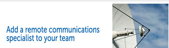 Building communications networks in Africa? Choose the remote communications specialists.