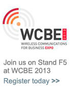 Visit us on Stand F5 at WCBE 2013. Register here.