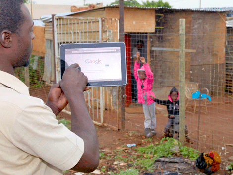 Rural broadband connects families in Africa