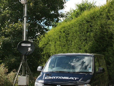 A rapidly deployed VSAT and wireless network infrastructure