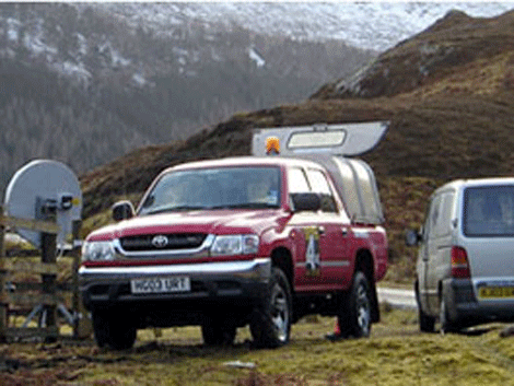 VSAT satellite connection ion remote highlands of Scotland