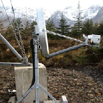 VSAT satellite network in remote Scoltland